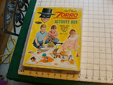 vintage Walt Disney's ZORRO Activity box only, no parts.  whitman