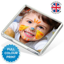 Personalised Custom Photo Gift Fridge Magnet 58 x 58 mm | Square Size