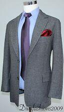 HUGO BOSS Gray Stretch Blazer 2 Button Men's Wool Sport Coat Jacket Size 42-R