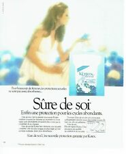 PUBLICITE ADVERTISING 0217  1978   protections féminines Kotex Sure de soi