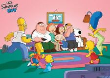 Simpsons Family Guy Poster Print A4 260gsm