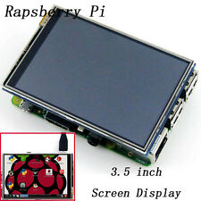"3.5"" TFT LCD Shield Touch Screen Kit Display+Case+Heatsinks for Raspberry Pi dlm"