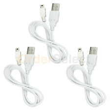 3 White USB Charger Cable for BlackBerry Curve 8130 8330 8350 8830 9000 Bold