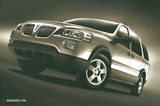 2004 Pontiac MONTANA SV6 / SV-6 Card from Brochure