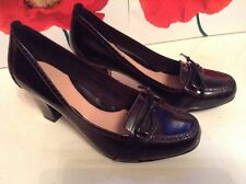 New ��Clarks ��Size 6 E Wide Diamond Star Red Patent Leather Court Shoes 39.5 EU
