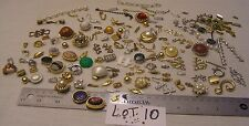 HUGE 125 Vtg Clasp Rhinestone + signed Jewelry Findings Repair Bracelet Necklace