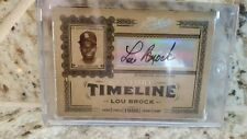 LOU BROCK 2005 PRIME CUTS AUTO & 2005 ABSOLUTE MARKS OF FAME JERSEY AUTO !! #'RD