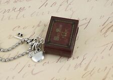 "Once Upon A Time Necklace ""Henry's Book"" Poison Apple and Queen's Keys OUAT ABC"