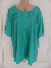 Autograph Weekend UK size 16 emerald green silk blend blouse
