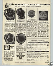 1948 PAPER AD Wilson Ball Hawk 2 Finger Baseball Glove Andy Pafco Luke Appling