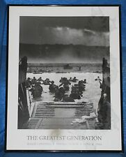D-Day Landing (1944) Poster  Framed  THE GREATEST GENERATION  20x26