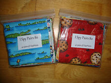 """40 PAIRS I Spy Eye Spy Quilt Kit 5"""" charms, 80 total, Cotton Quilt Novelty"""
