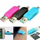 Mini Micro USB+USB 2.0 OTG Adapter SD T-Flash Memory Card Reader for Smart Phone