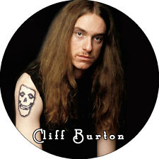 CHAPA/BADGE CLIFF BURTON . pin button megadeth sepultura metallica misfits heavy