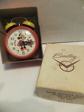 VINTAGE MINNIE MOUSE - DOUBLE BELL ALARM CLOCK - GERMANY - BRADLEY CO. - DISNEY