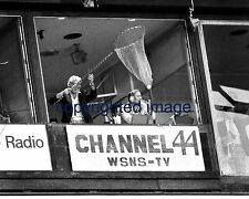 Harry Caray White Sox Catching ball   Comiskey Park Jimmy Piersall B+W 8x10 D