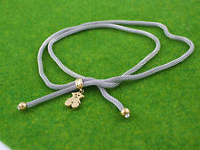 """Gatik"" Ladies N1009 Steel Crystal Set Chain Mesh Necklace With Teddy Bear Charm"