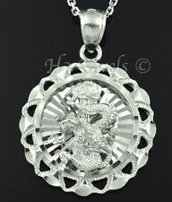 18k solid white gold 3-d dragon pendant  #1318 h3jewels 5.60 grams pre owned