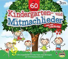 FELIX & DIE KITA-KIDS-DIE 60 SCHÖNSTEN KINDERGARTEN-UND MITMACHLIEDER 3 CD NEU
