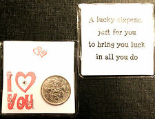LUCKY SIXPENCE COIN KEEPSAKE GIFT TO SAY I LOVE YOU