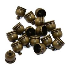 10pcs Bronze Barrel Bead Leather Cord ends caps Jewelry findings 12 x 10mm
