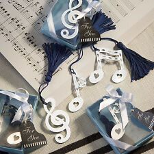60 Musical Note Bookmark Favors wedding favor bridal shower party