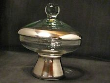 Mid Century Dorothy Thorpe Silver Band Covered Candy Dish