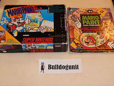 Mario Paint Big Box w/ Strategy Guide Super Nintendo Snes Mouse Pad Game
