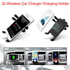 Qi Wireless Car Charger Transmitter Holder Cradle Holder For Samsung S6 S7 Edge