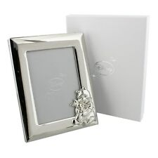 "Disney Winnie the Pooh Silver plated Photo Frame 3.5x5"" NEW in Gift Box - 22340"