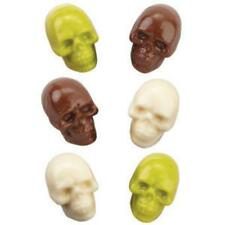 Wilton Candy Mold 3D Skull 4 3-D Skulls 8 Cavity Halloween Day of the Dead