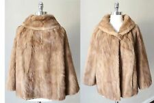 Mink Fur Real Swing Princess Trapeze Bridal Honey Blonde VTG Deco Pelz Coat