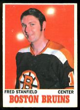1970 71 OPC O PEE CHEE #5 FRED STANFIELD VG-EX BOSTON BRUINS HOCKEY CARD