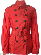 Burberry brit red belted Court Trench Coat Veste de pluie nouveau bnwt UK 6 il 38 £ 396