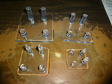4 peg acrylic stands; 4 individuals; 1.5; 2; 2.5; 3 inch 4 peg stands