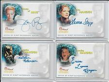 JERI RYAN WOMEN OF STAR TREK VOYAGER SEVEN OF NINE AUTOGRAPH SERIES SA1-7 SET !!