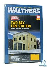 4022 Walthers Cornerstone Two-Bay City Fire Station HO Scale