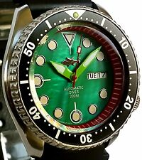 Vintage SEIKO 7S26 diver SKX mod *DAGGER hands on SEA GREEN Mother of Pearl dial