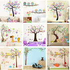 Nursery Removable Wallpaper Owls Tree Wall Stickers For Kids Room Home Decor