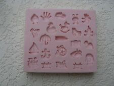 Baby Accessories III Mold (NM-027) for Cake Decorating. Sunflower Sugar Art