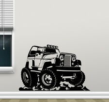 Jeep Wall Decal Wrangler Truck Poster Sports Vinyl Sticker Kids Art Decor 204hor