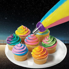 Icing Piping Bag Nozzle Converter Tri-color Cream Coupler Cake Decorating New