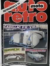 Revue AUTO RETRO moto magazine n° 67 - mars 1986 collection cadillac V12 panhard