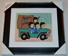 THE BEATLES OR BUST PICTURE ANIMATION LTD ED SERICEL COA FRAMED NIB