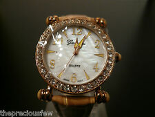 Genevex Ladies Gold Coloured Rhinestone Party Watch  **FREEPOST**