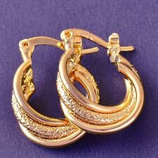 Earrings Real 9ct Gold Filled Vintage Style Hoops by 'H & D' Maltese Gypsy Hoops