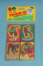 vintage Gordy THE INCREDIBLE HULK & AMAZING SPIDER-MAN IRON-ON PATCHES MIP