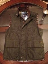 Ralph Lauren Oil Cloth Vest Hunter Green & Leather Trimmings Sz Large New/Tags