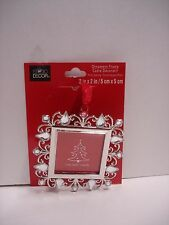 """New ORNAMENT PICTURE FRAME Christmas Square Jewel Fit Photo 2"""" Dia"""