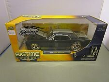 JADA 1/24 BIGTIME MUSCLE BLACK/SILVER 1965 FORD MUSTANG NEW  *READ*